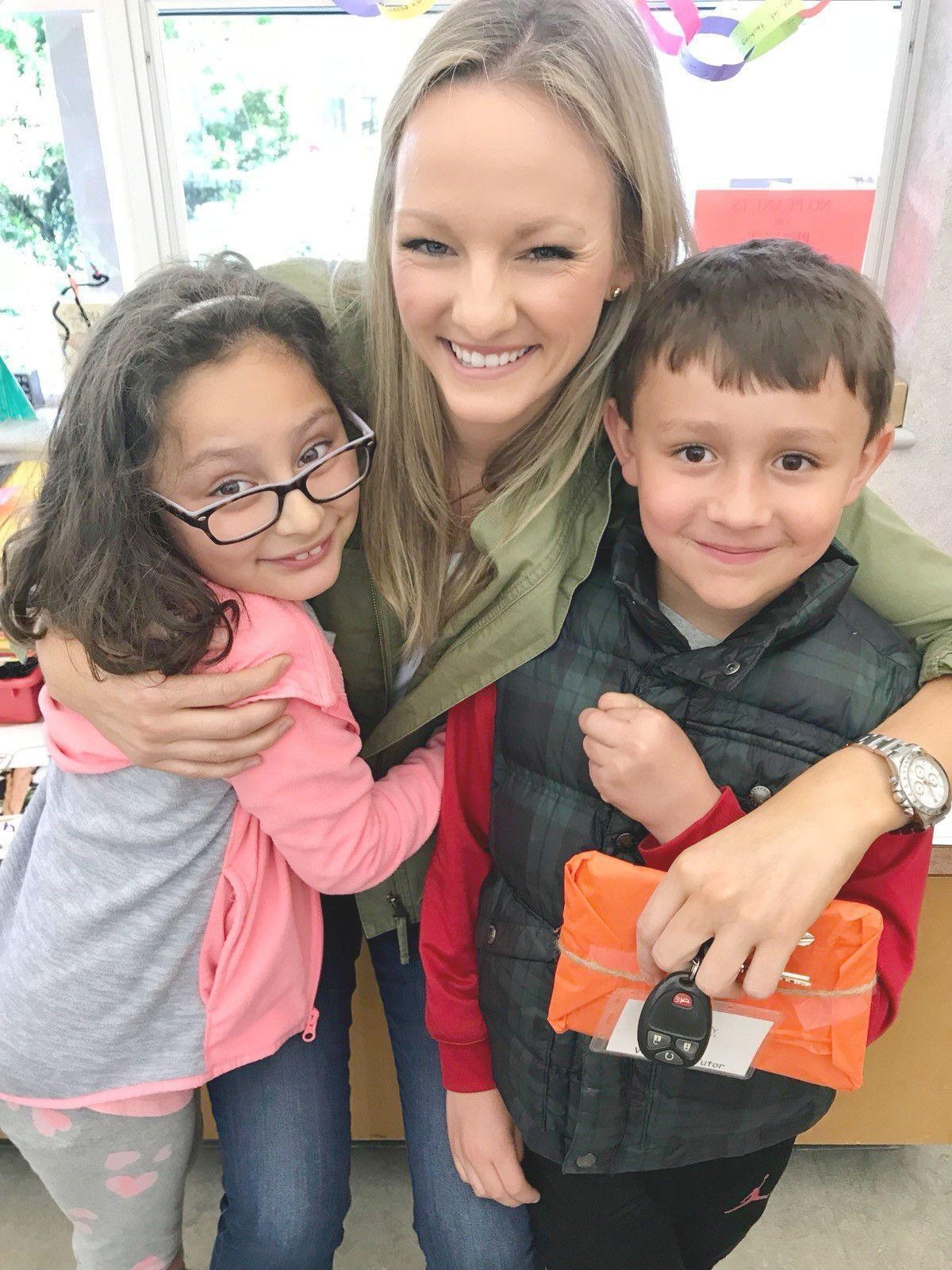Ashley McMullen with kids