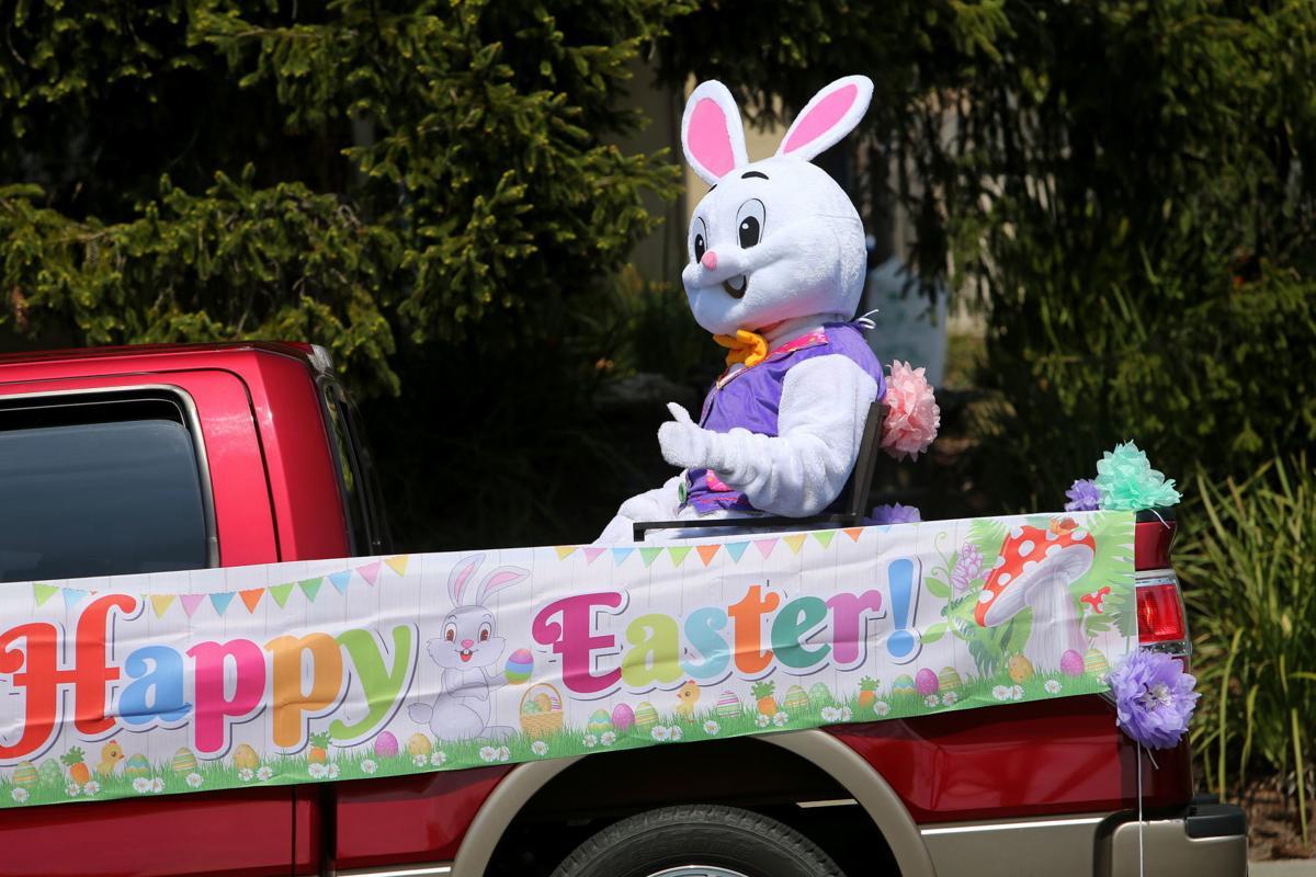 Easter Bunny tours Napa neighborhoods