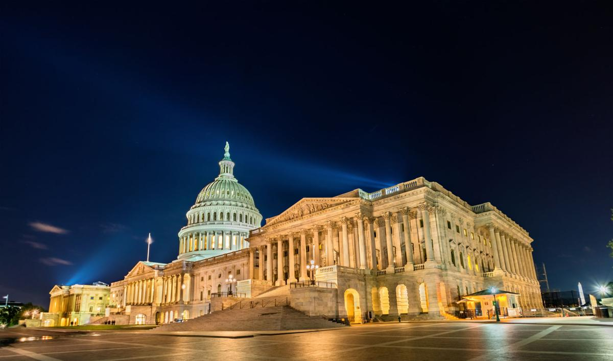 U.S. Capitol at night