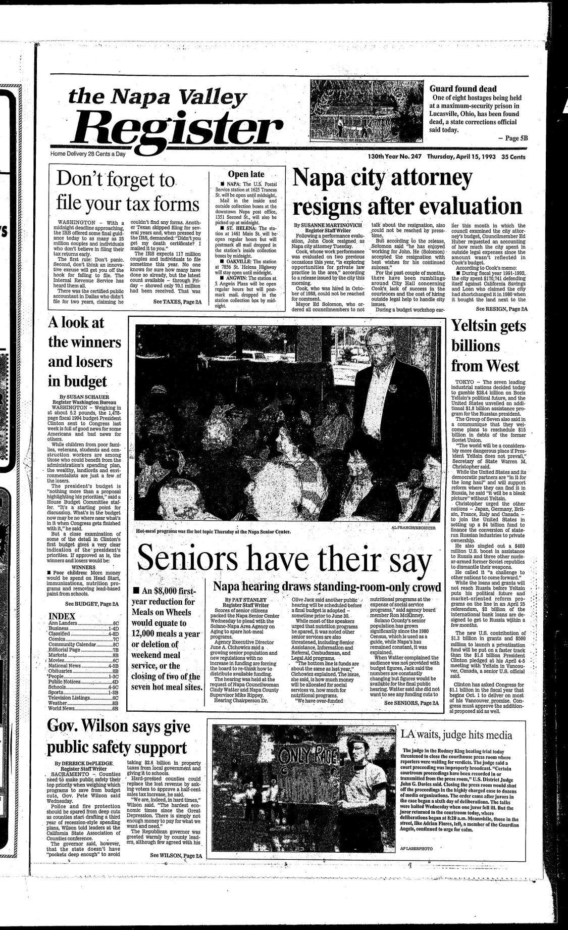 April 15, 1993