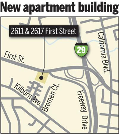 Napa First Street apartment complex map