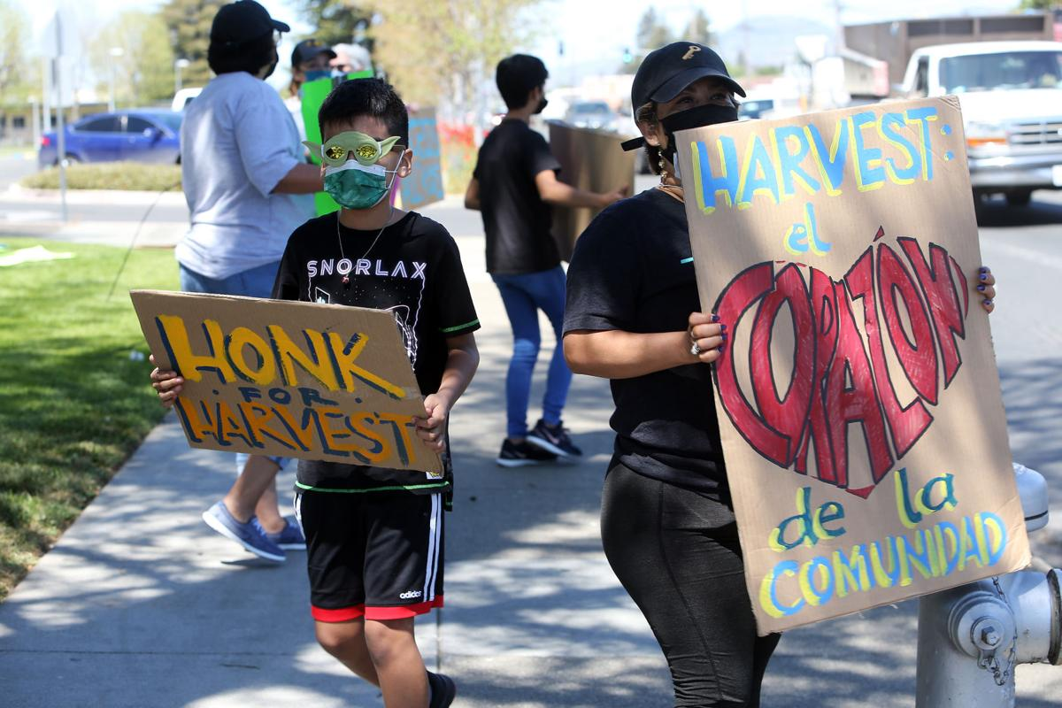 Demonstration to save Harvest Middle School, Napa