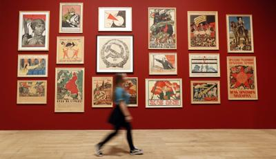 APTOPIX Britain Russian Art Exhibition