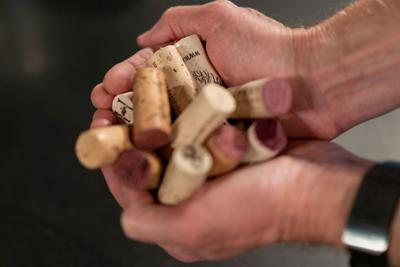 Wine corks pulled from bottles  2