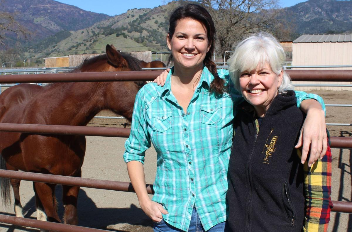 Lindsay Merget and Lisa O'Connor at Sunrise Horse Rescue