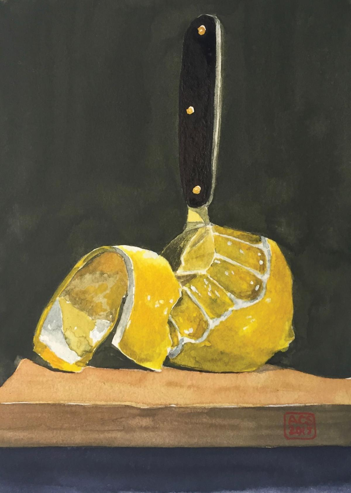 Lemons and knife