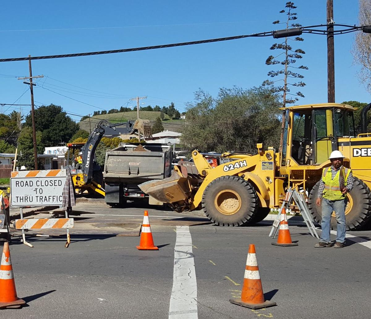 Road construction American Canyon
