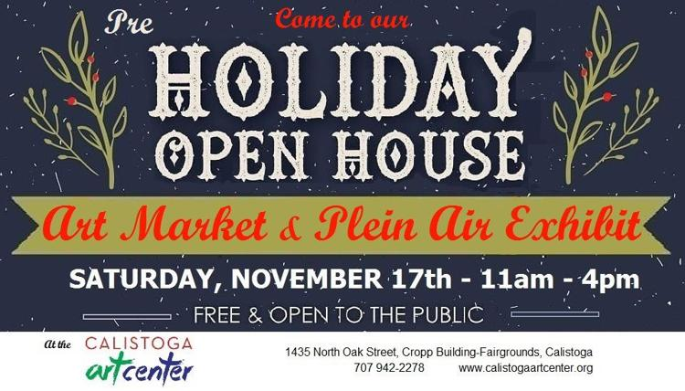 Pre holiday art market mini plein air exhibit and sale for Holiday craft fair napa ca