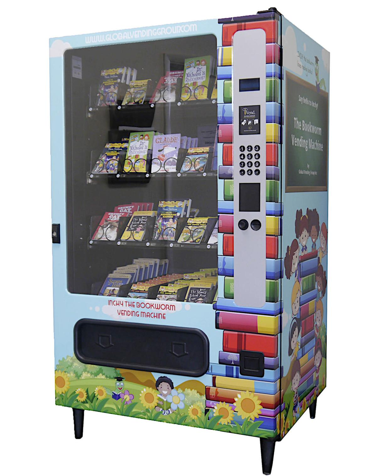 Inchy the Bookworm Book Vending Machine