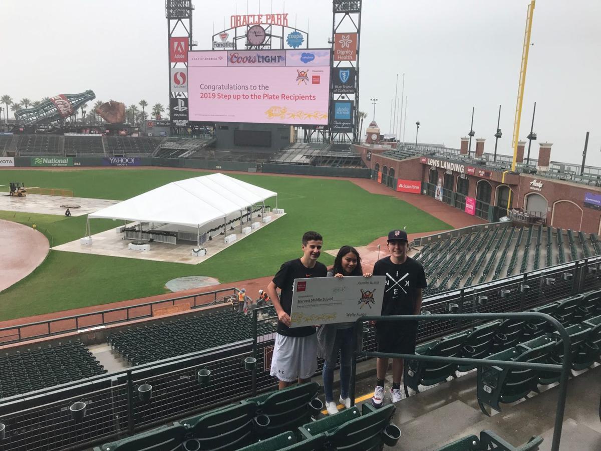 Noah Piersig, Alejandra Valladares and Jeffery Page of Harvest Middle School