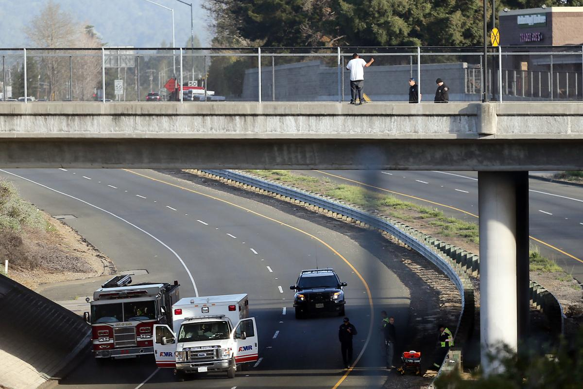 man threatening to jump from highway 29 overpass in napa comes down
