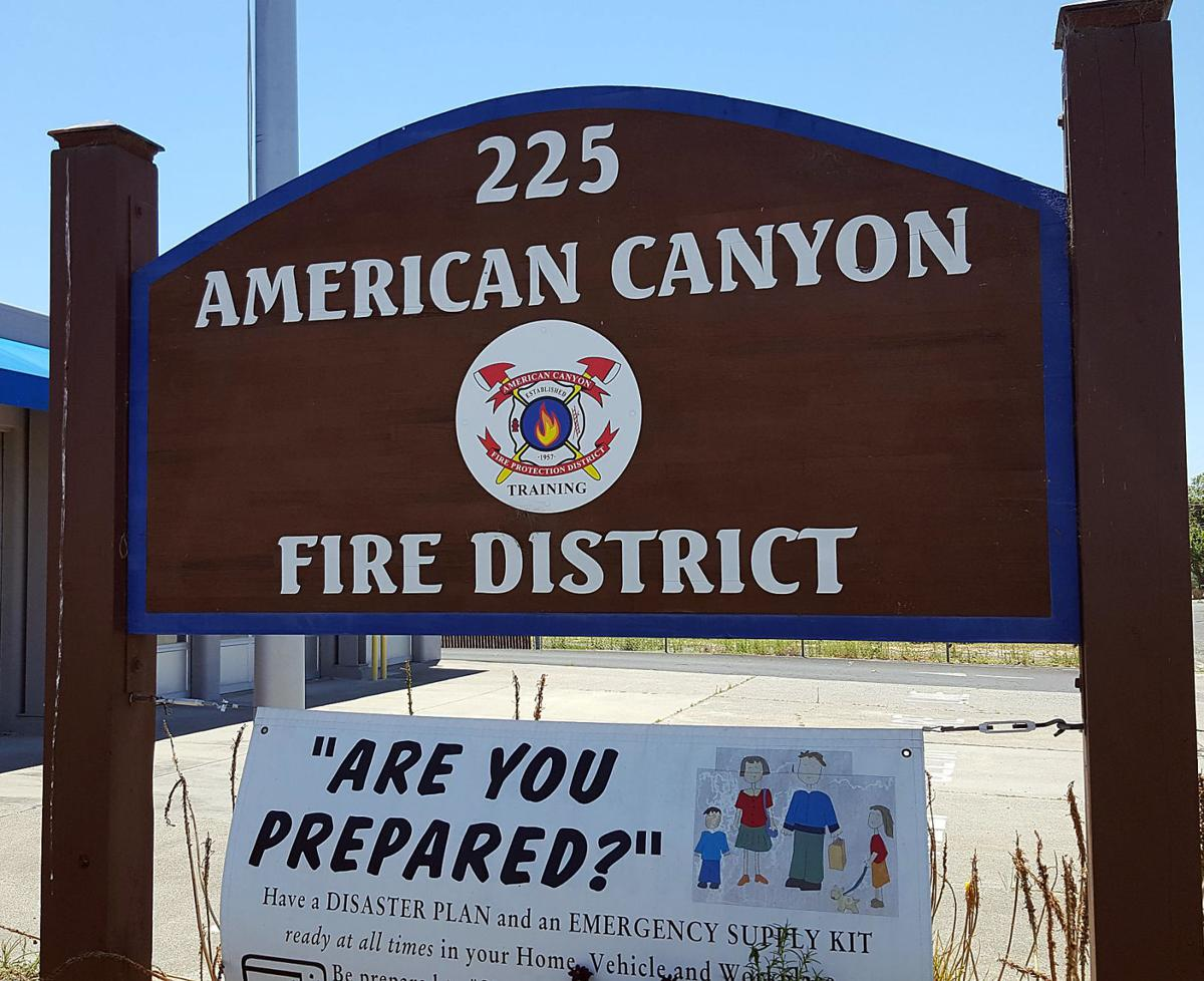 American Canyon Fire District sign
