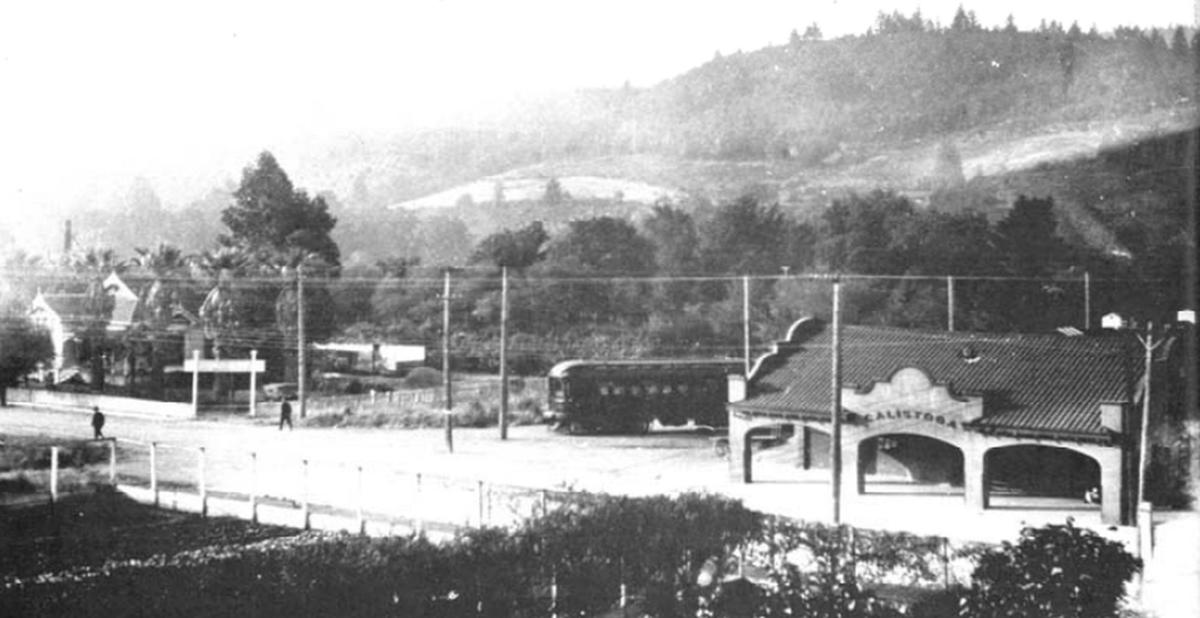 Calistoga station, circa 1913