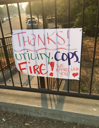 Thanking first responders