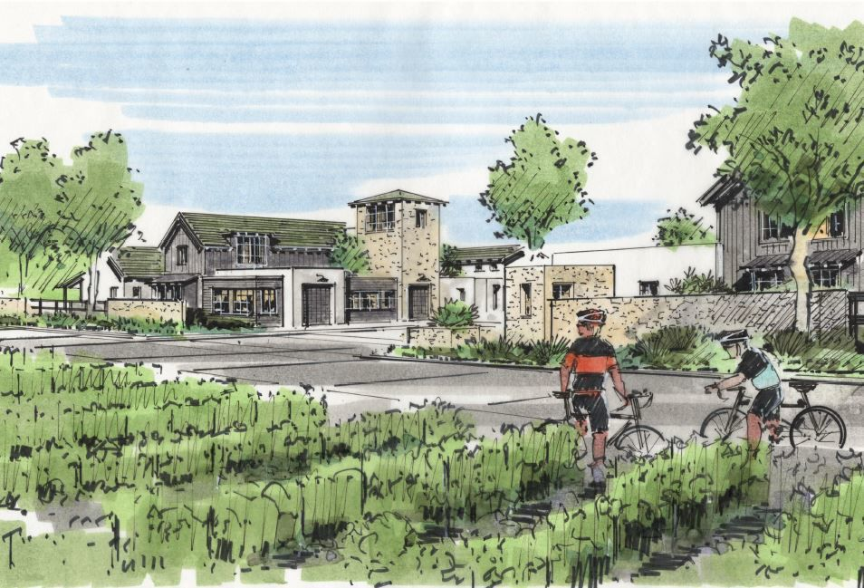 An artist image of the Vineyard Homes at Stanly Ranch.