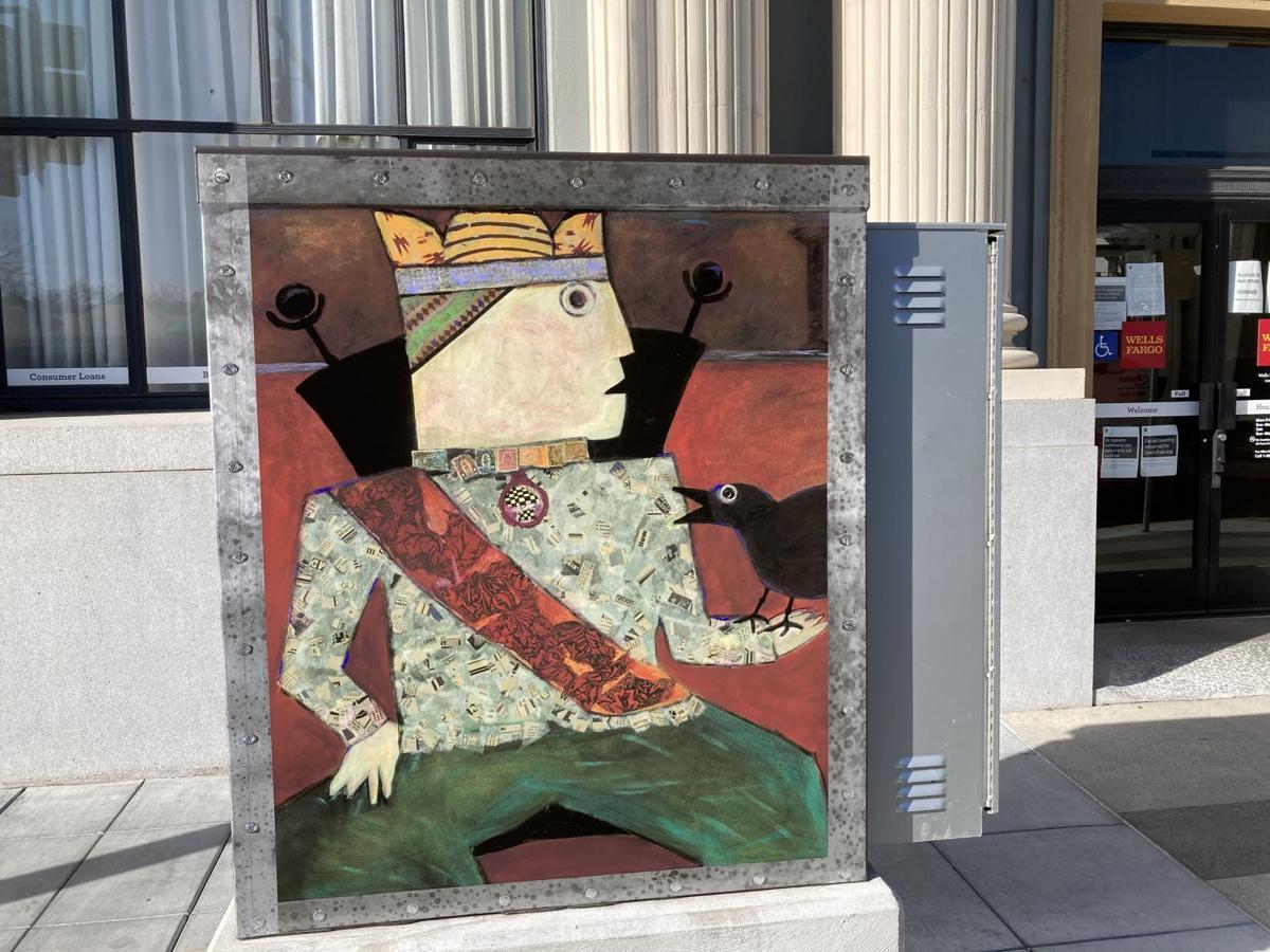 Downtown panel art