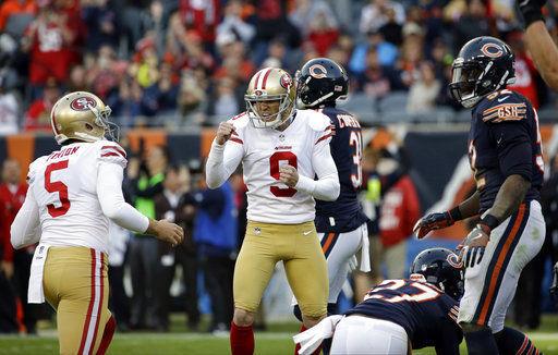 Gould kicks FG lifts Garoppolo, 49ers over Bears 15-14
