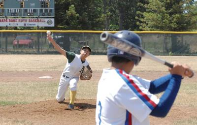 A's Babe Ruth League pitcher Nate Engle