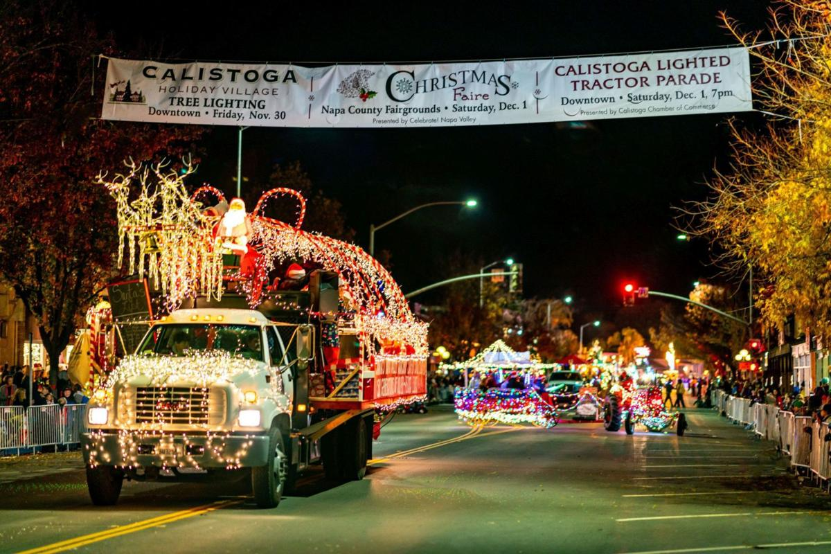 Calistoga Lighted Tractor Parade