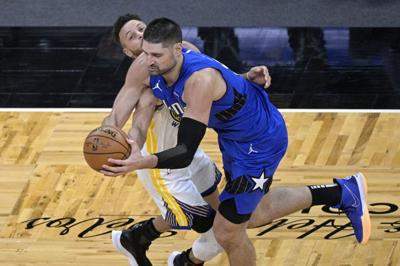 Warriors Magic Basketball