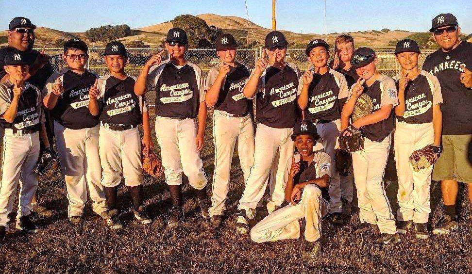 American Canyon Little League Majors champion Yankees