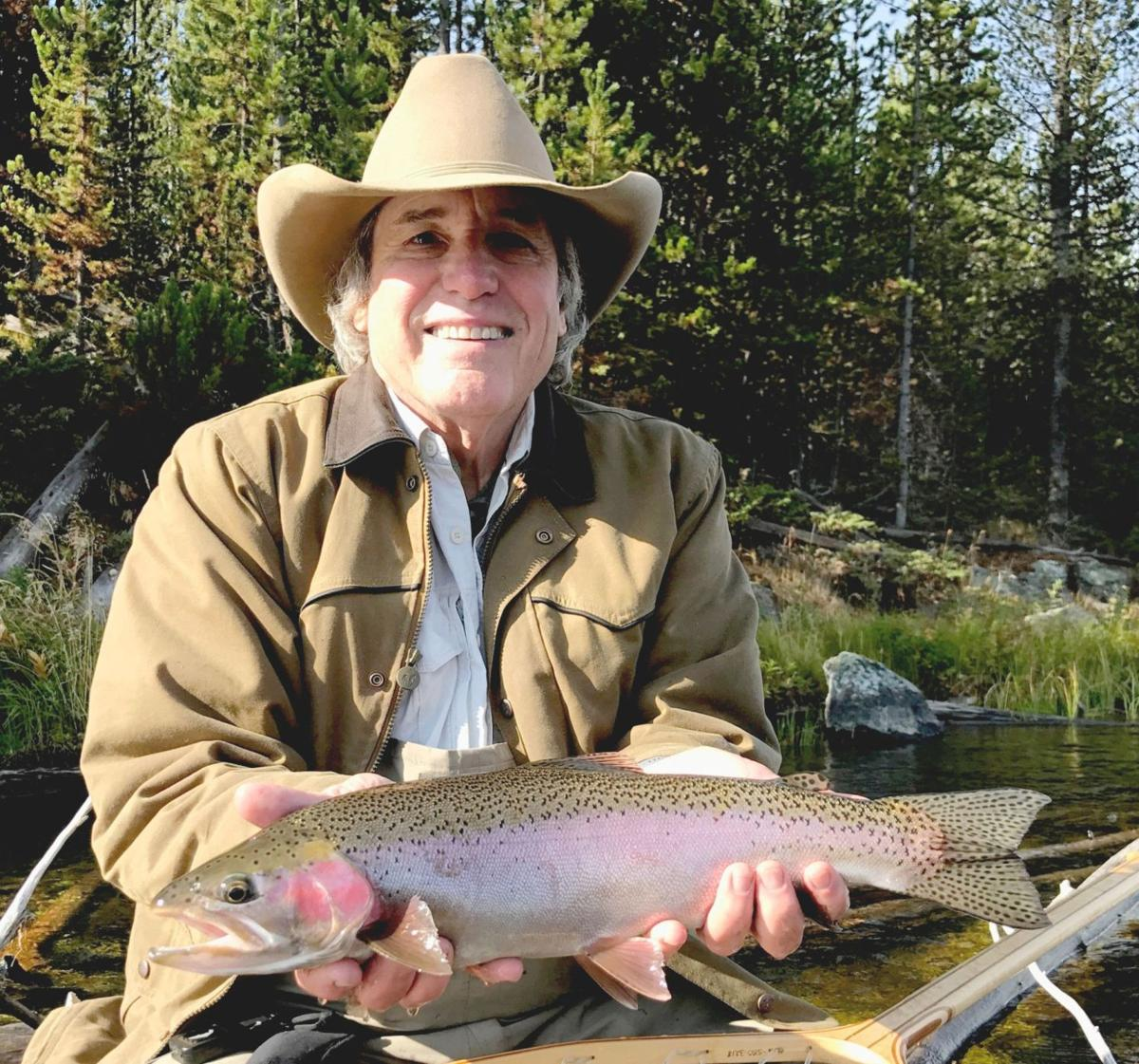 Scott Snowden with a rainbow trout