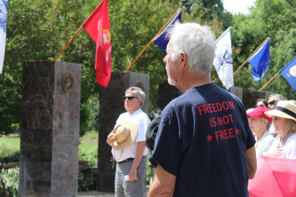Memorial Day at Veterans Memorial at Logvy Park