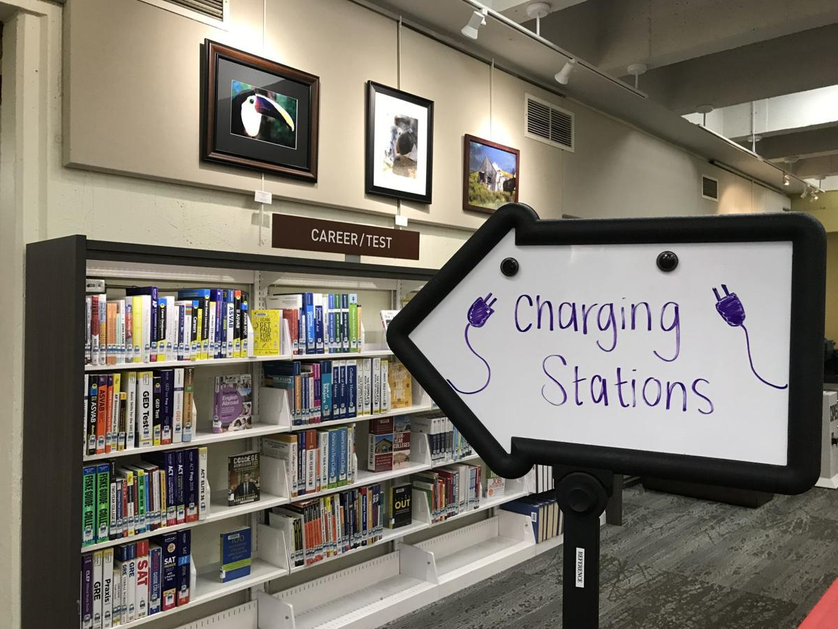 Napa library charging station