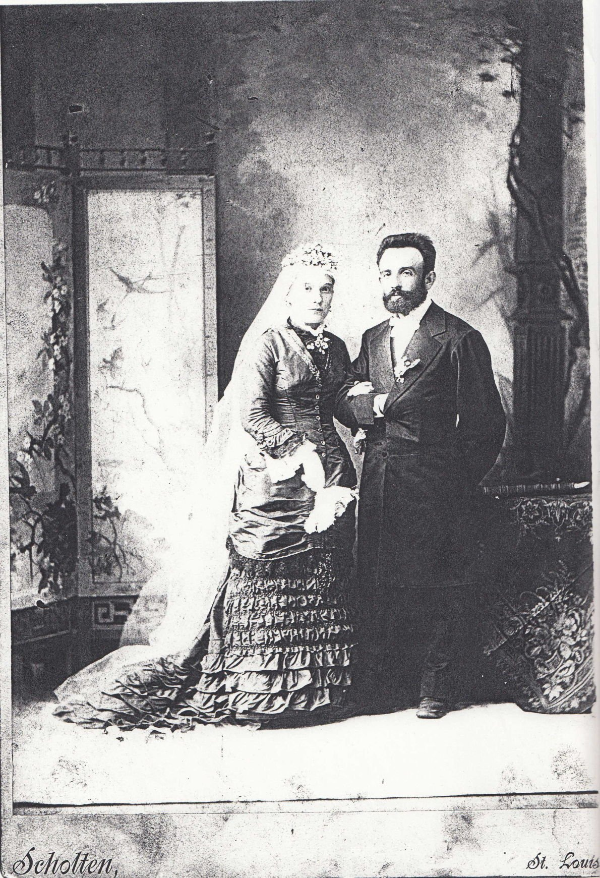 Louis Ludwig Viktor Bauer and his new wife Theresa Maria Shaeffer Striewe