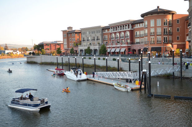 Downtown Napa boat dock