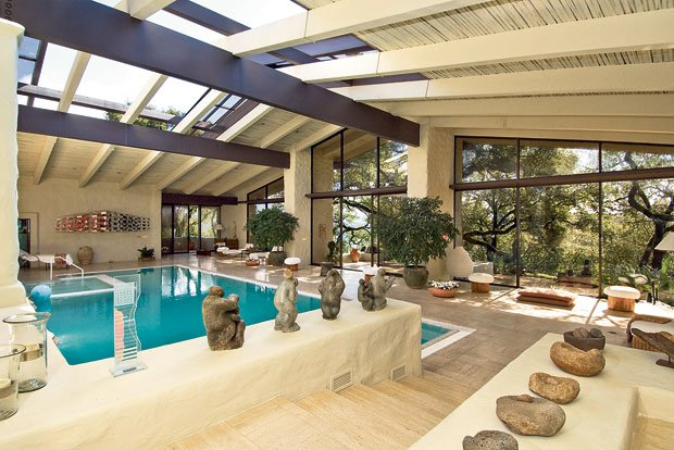 The 50 Foot Indoor Pool Is Part Of Robert And Margrit Mondaviu0027s Estate Near  Yountville. The 11,500 Square Foot Home Will Be Sold At A Nov. 16 Auction.