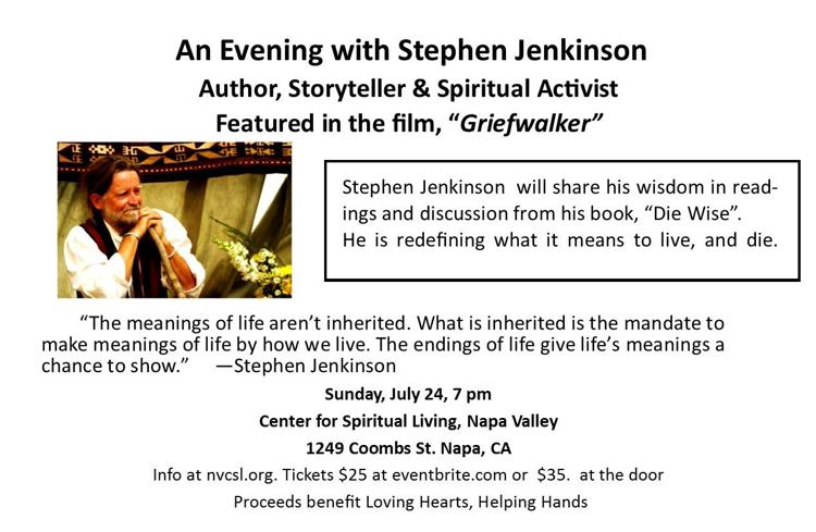 Stephen Jenkinson event flyer