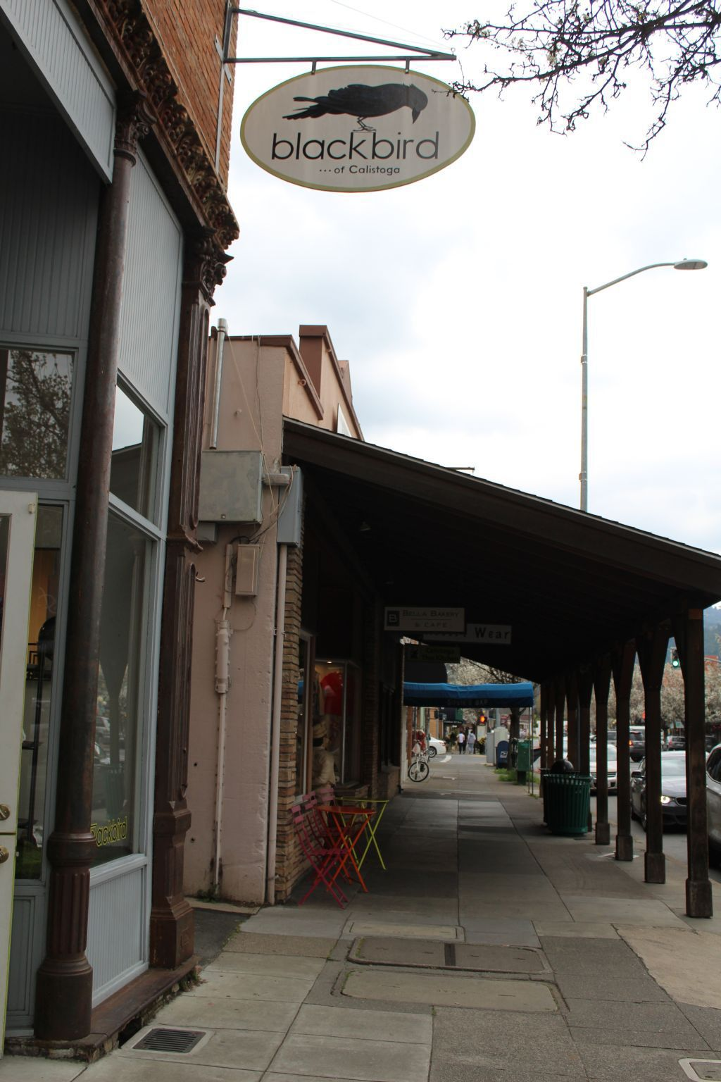 Calistoga sidewalk