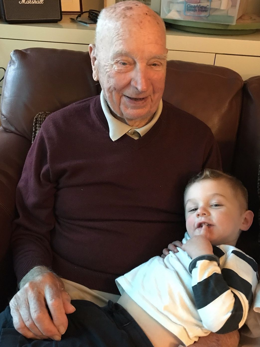 Jack Welch with great-grandson Evan