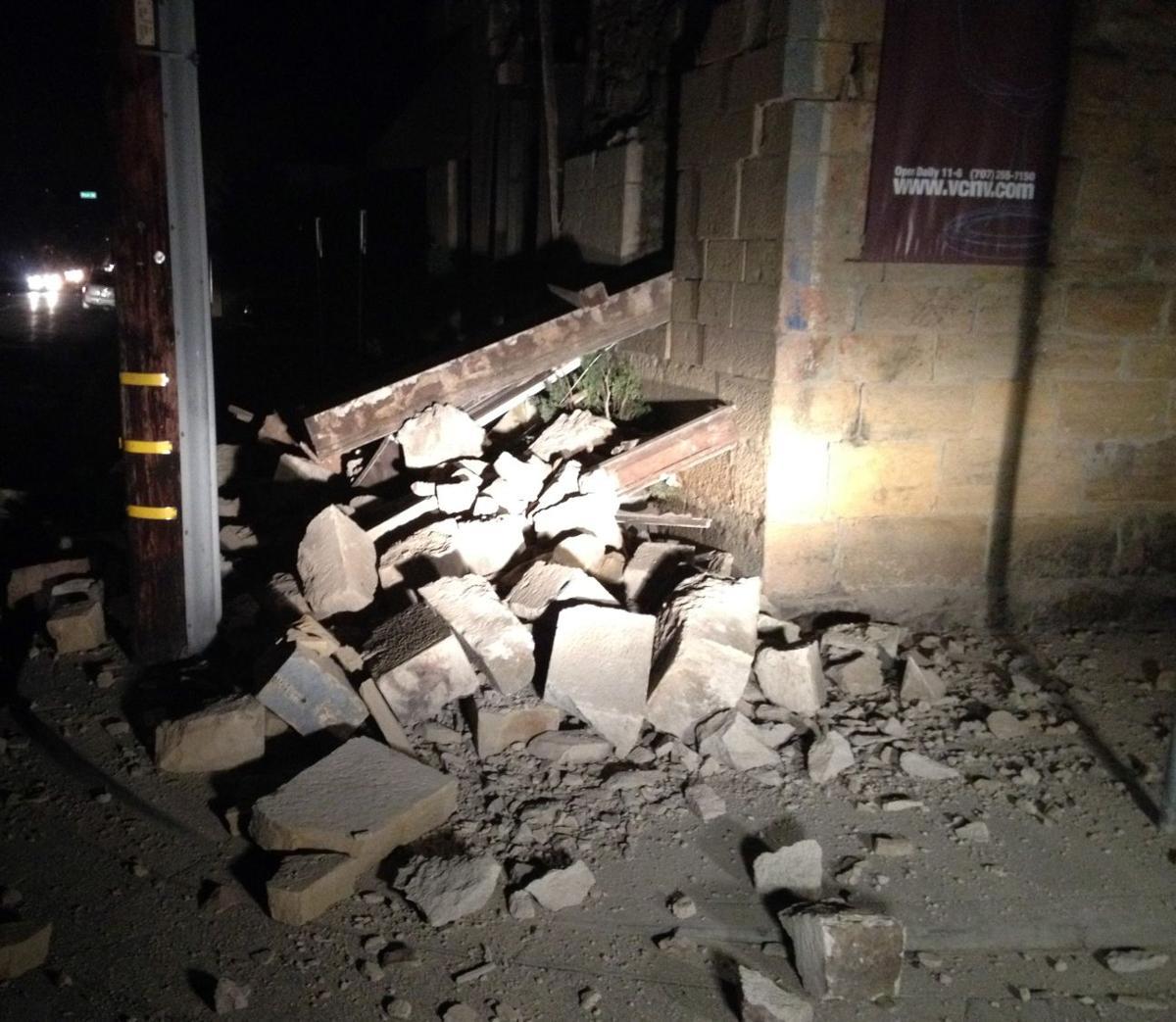 Earthquake damage in Napa