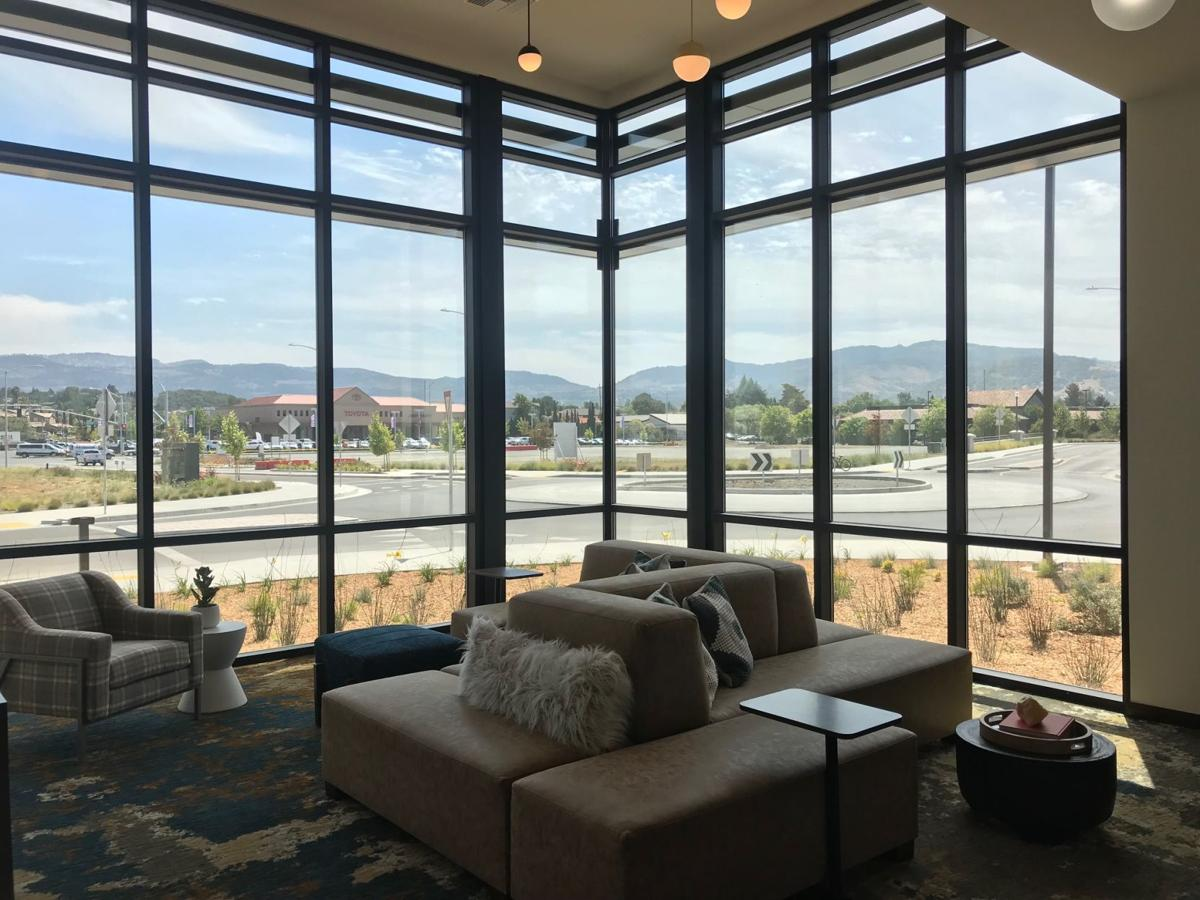 The first of some 282 apartments at The Braydon Apartments are now available for lease at the Soscol Avenue complex. This is the view from the leasing center near the corner of Soscol Avenue and Saratoga Drive.