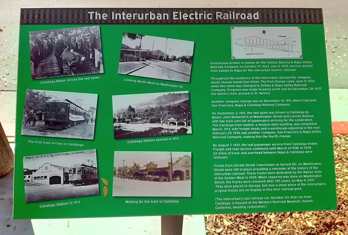 Calistoga train history
