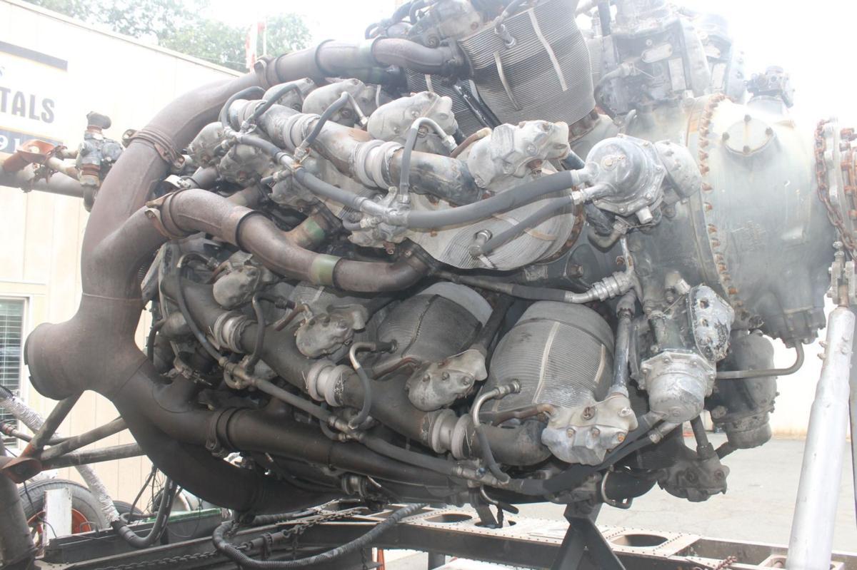 Detail of Pratt & Whitney aircraft engine