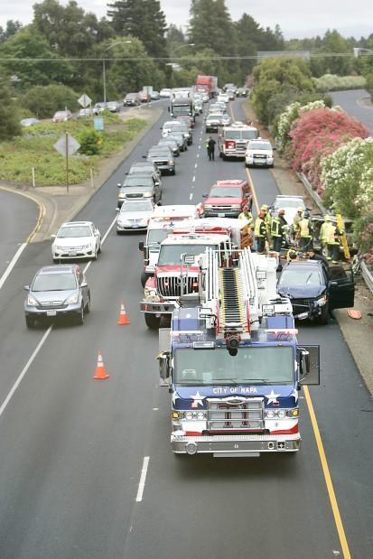 Morning crash backs up traffic on Highway 29 in Napa | Local