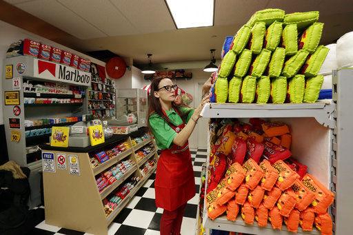Artist uses felt to recreate New York City grocery store