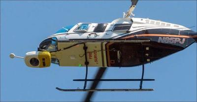 PG&E surveying power lines by helicopter in North Bay