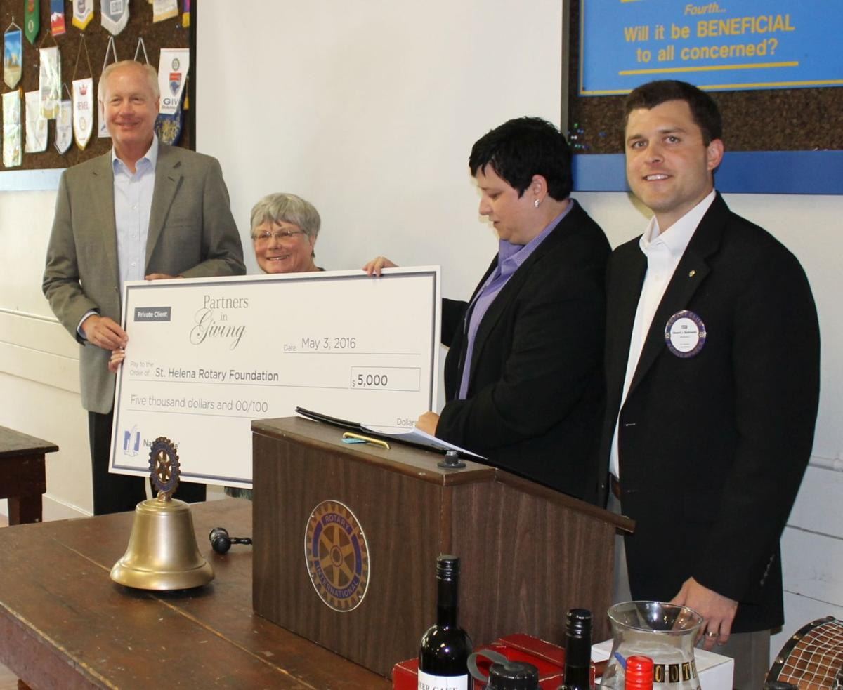 Check presented to Rotary