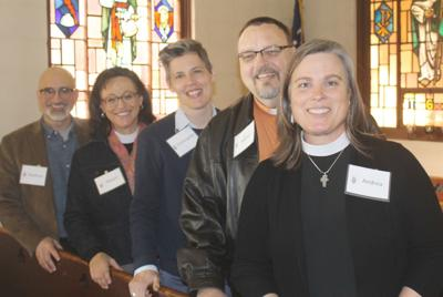 Bishop candidates stop in Calistoga for lunch