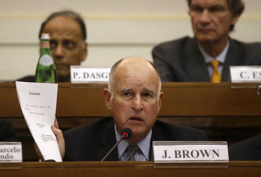 California governor talks climate change at Vatican