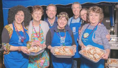 Kitchen crew for Soroptimist St. Helena crab feed