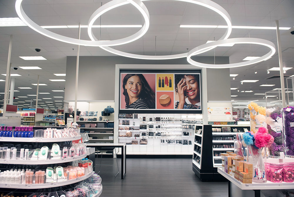 The inside of a recently remodeled Target store in the U.S.