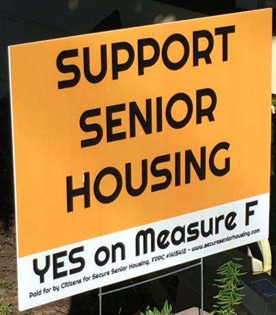 Yes on Measure F sign