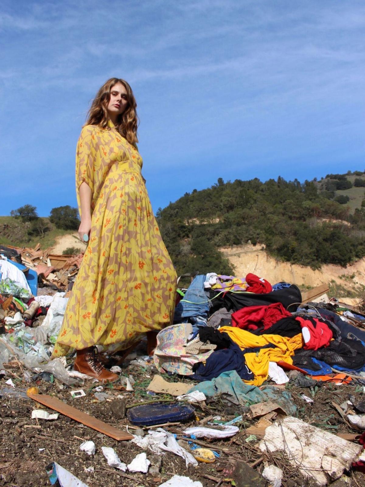 Fashion shoot at Clover Flat Landfill
