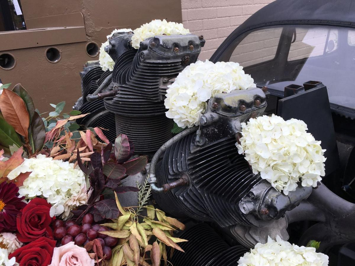 Wedding flowers for a VW Bug