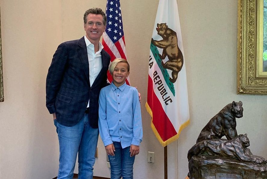 Ryan Kyote of Napa, with Gov. Newsom